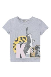 Kenzo 2-6Y Cloud Liberty T-Shirt - Front cropped