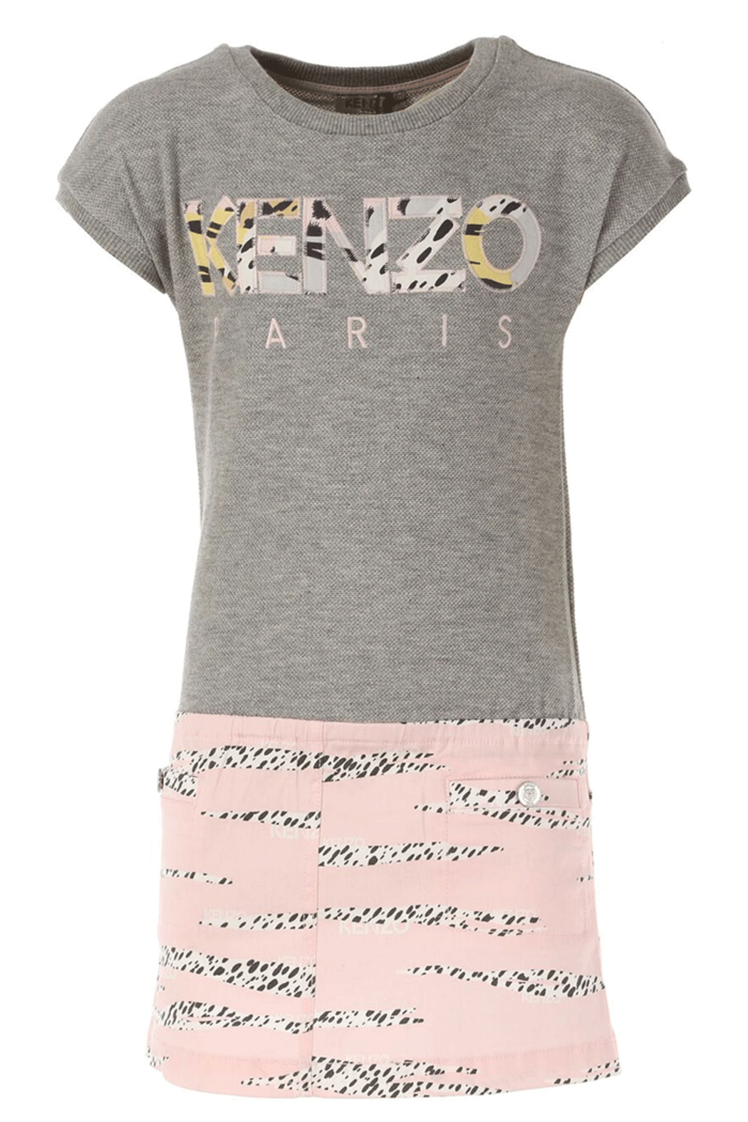 Kenzo 2-6Y Jackie Stripe Dress - Front Cropped Image