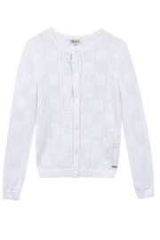 Kenzo 2-8Y Bony Letter Cardigan - Front cropped