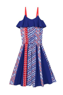 Shoptiques Product: 8-12Y Balzane Print Dress