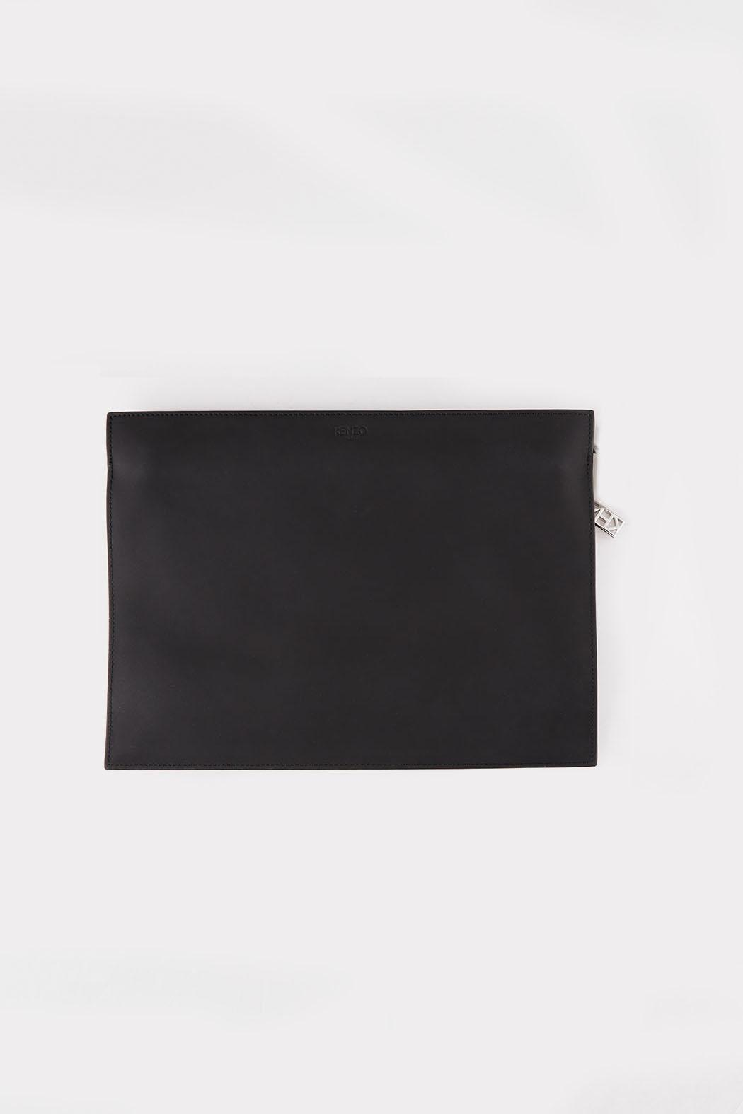 Kenzo Black Kalifornia Clutch - Front Full Image