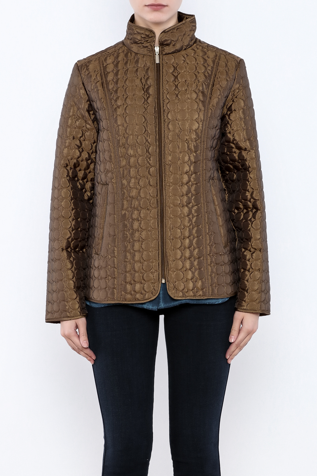 Keren Hart Circle Quilted Jacket - Side Cropped Image