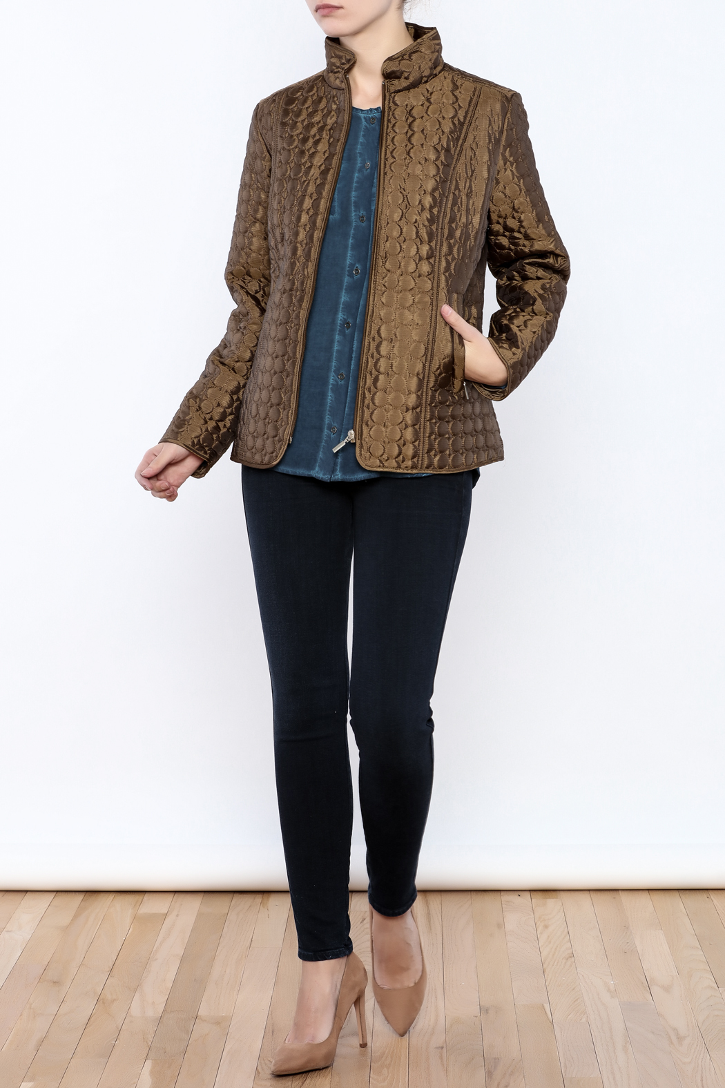Keren Hart Circle Quilted Jacket - Front Full Image