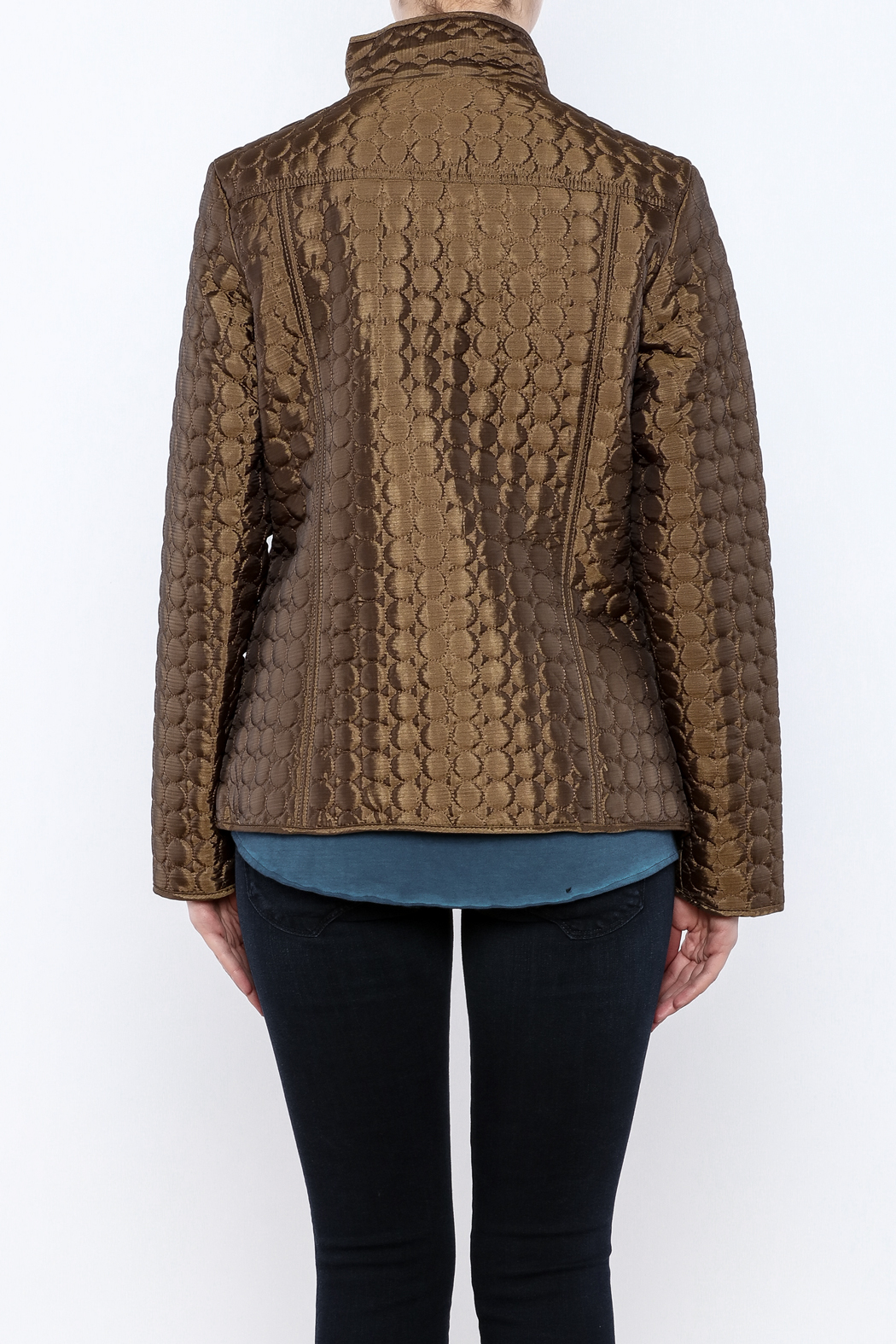 Keren Hart Circle Quilted Jacket - Back Cropped Image
