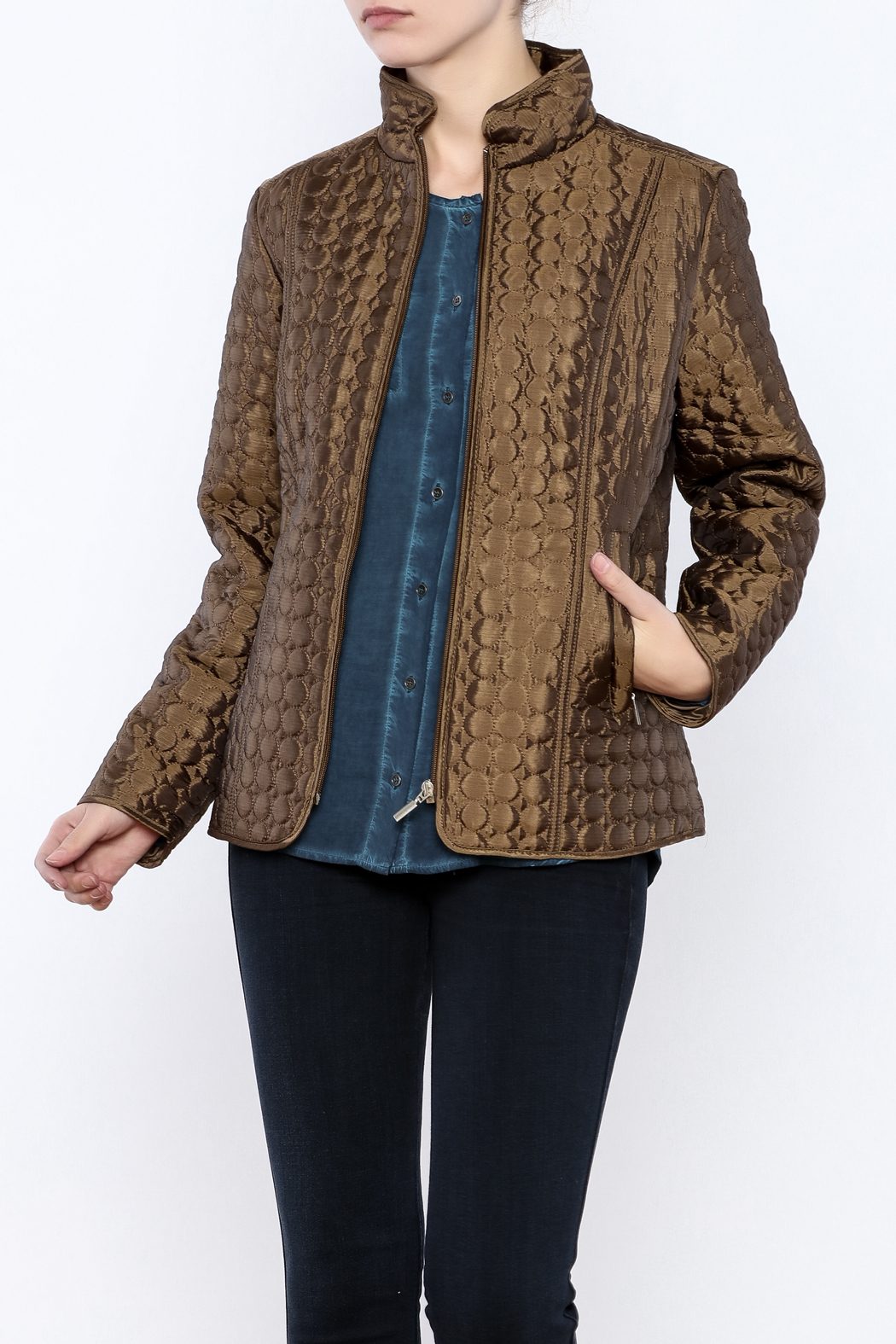 Keren Hart Circle Quilted Jacket - Front Cropped Image