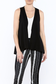 Keren Hart Black Drape Vest - Product Mini Image