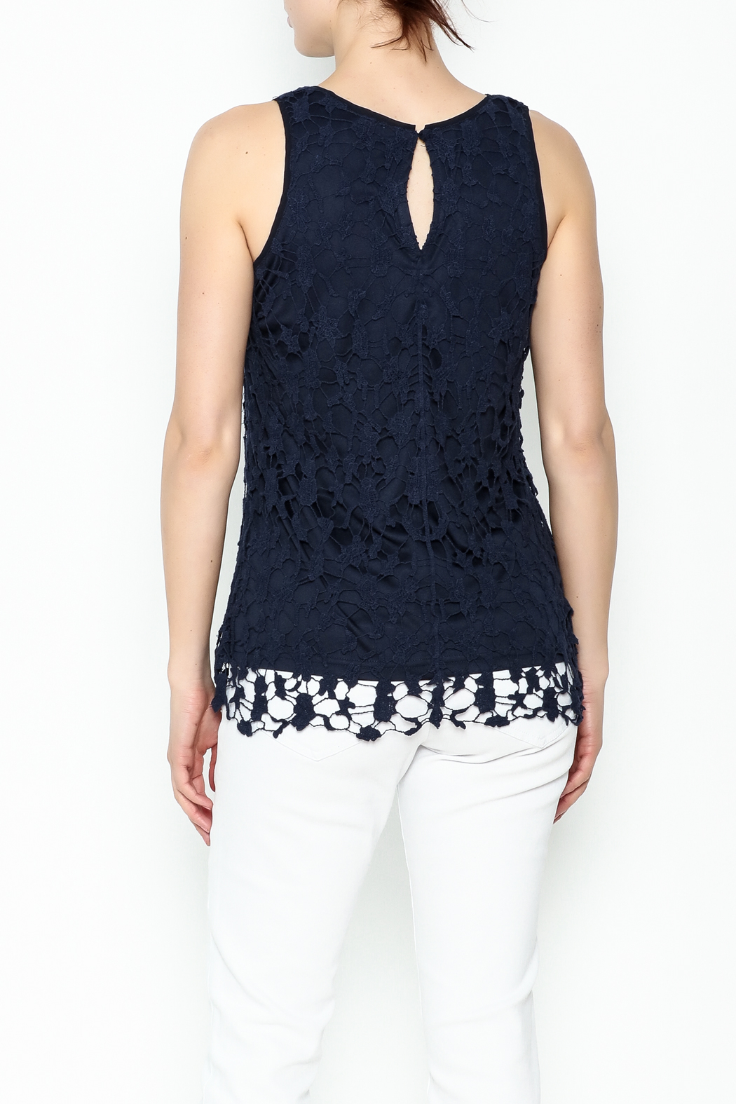 Keren Hart Lace Sleeveless Top - Back Cropped Image