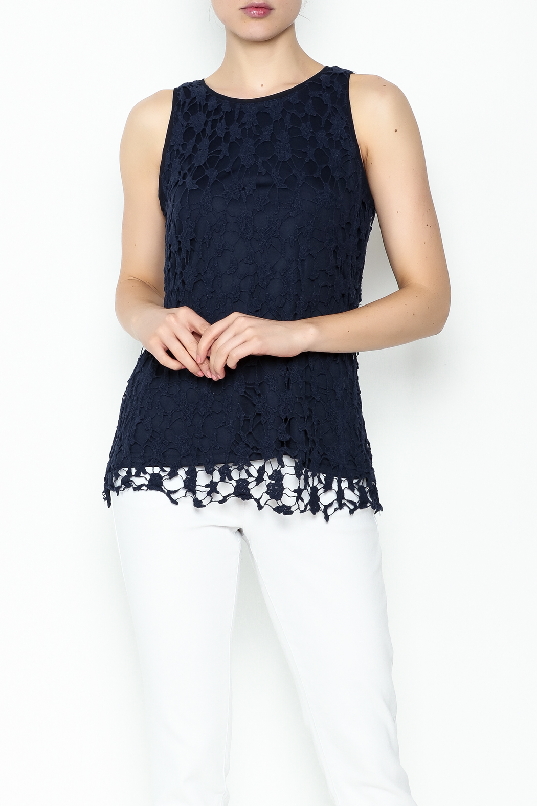 Keren Hart Lace Sleeveless Top - Front Cropped Image