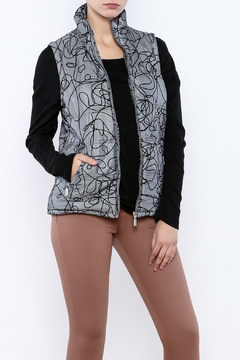Shoptiques Product: Silver Quilted Vest