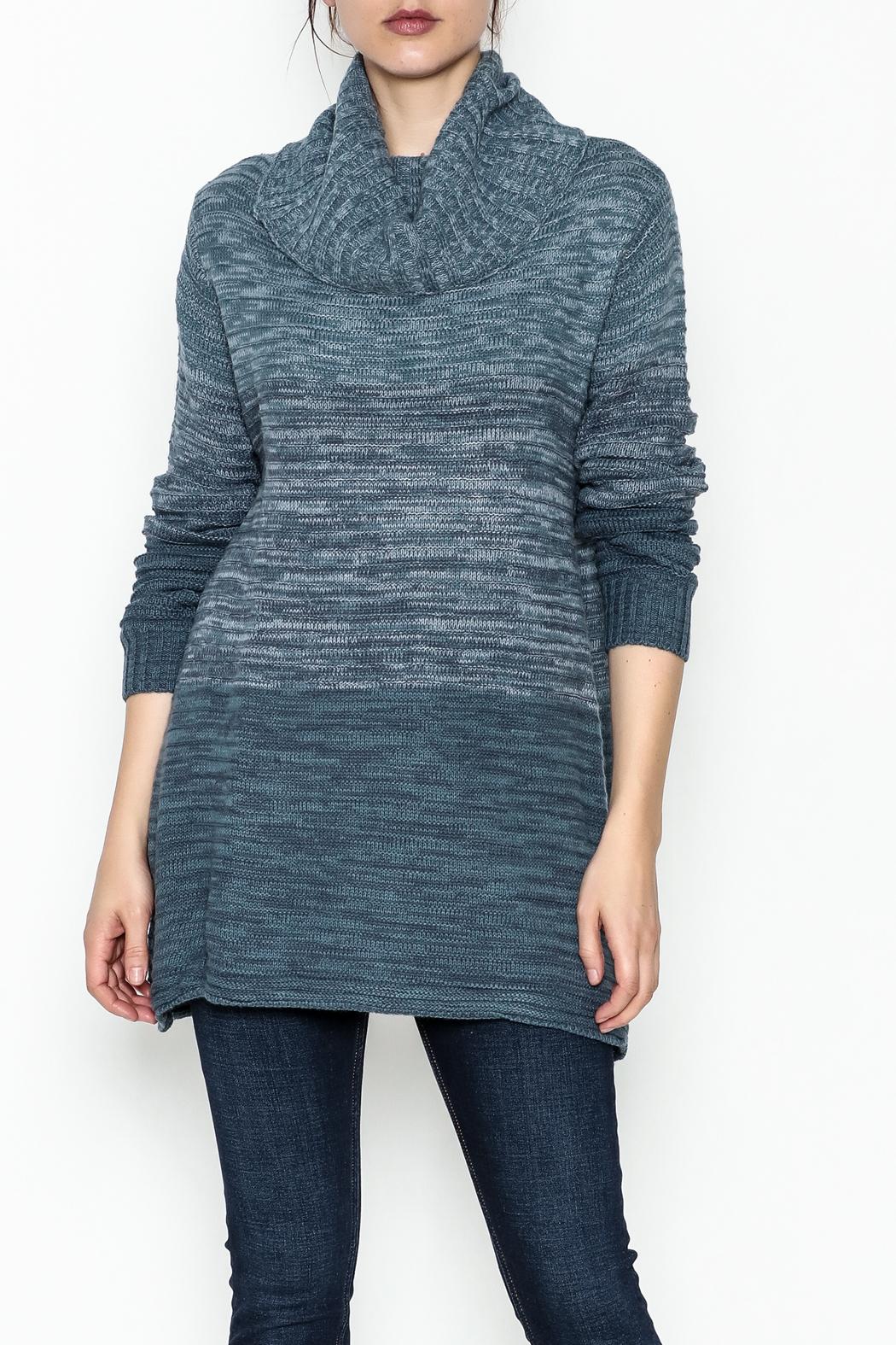 Keren Hart Variegated Cowl Neck Sweater - Main Image