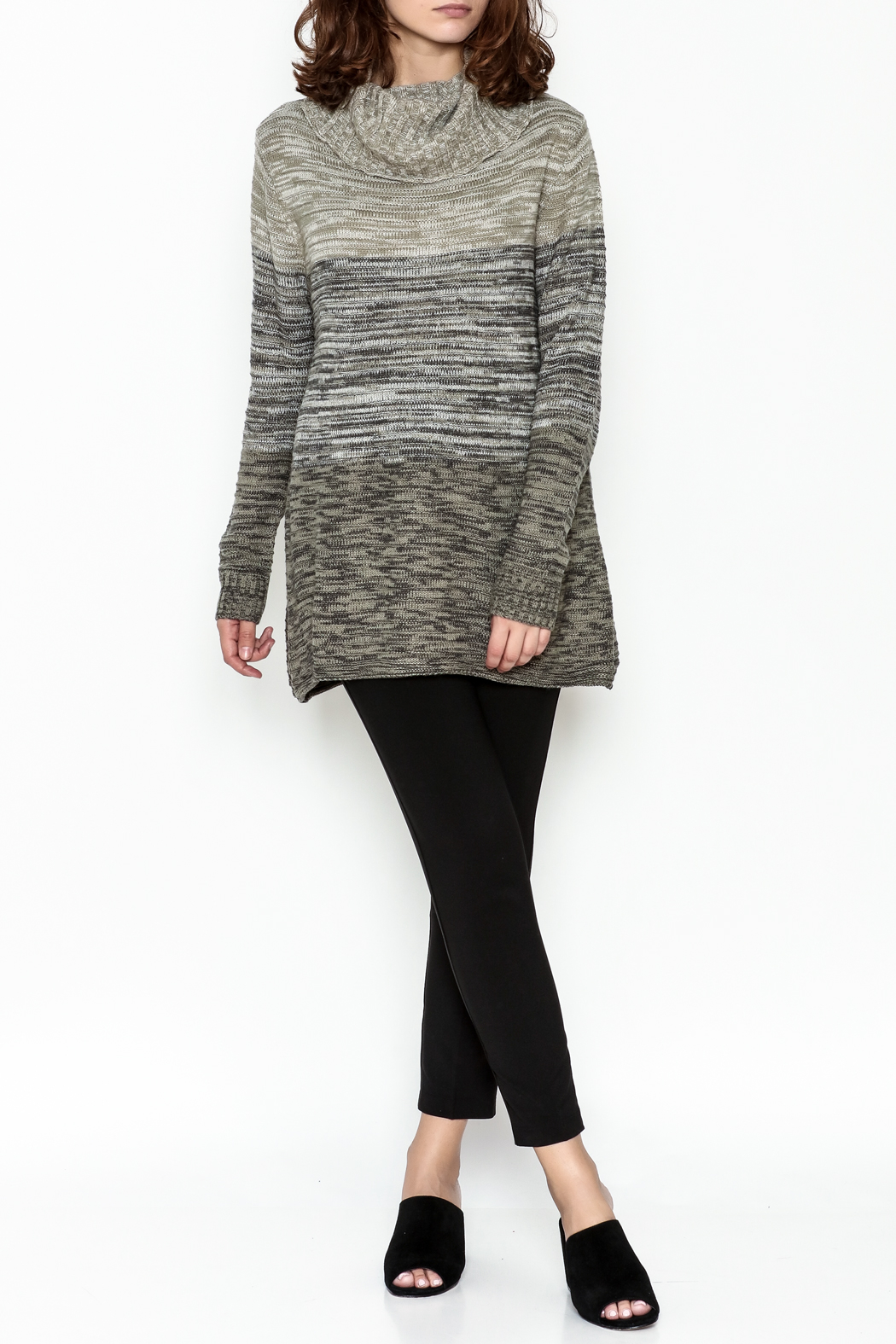 Keren Hart Variegated Cowl Neck Sweater - Side Cropped Image