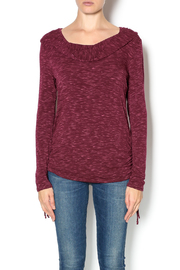 Keren Hart Wine Hooded Top - Product Mini Image