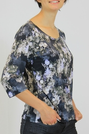 Keren Hart Blue Floral  Top - Front full body