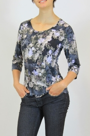 Keren Hart Blue Floral  Top - Product Mini Image
