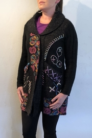 Keren Hart Floral Embroidiered Jacket - Front full body