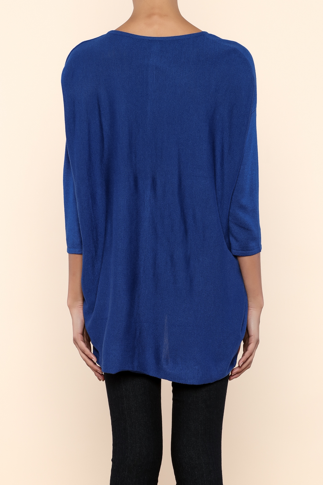 Kerisma Blue V-Neck Sweater - Back Cropped Image