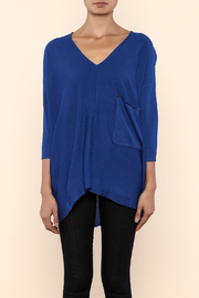 Kerisma Blue V-Neck Sweater - Side cropped