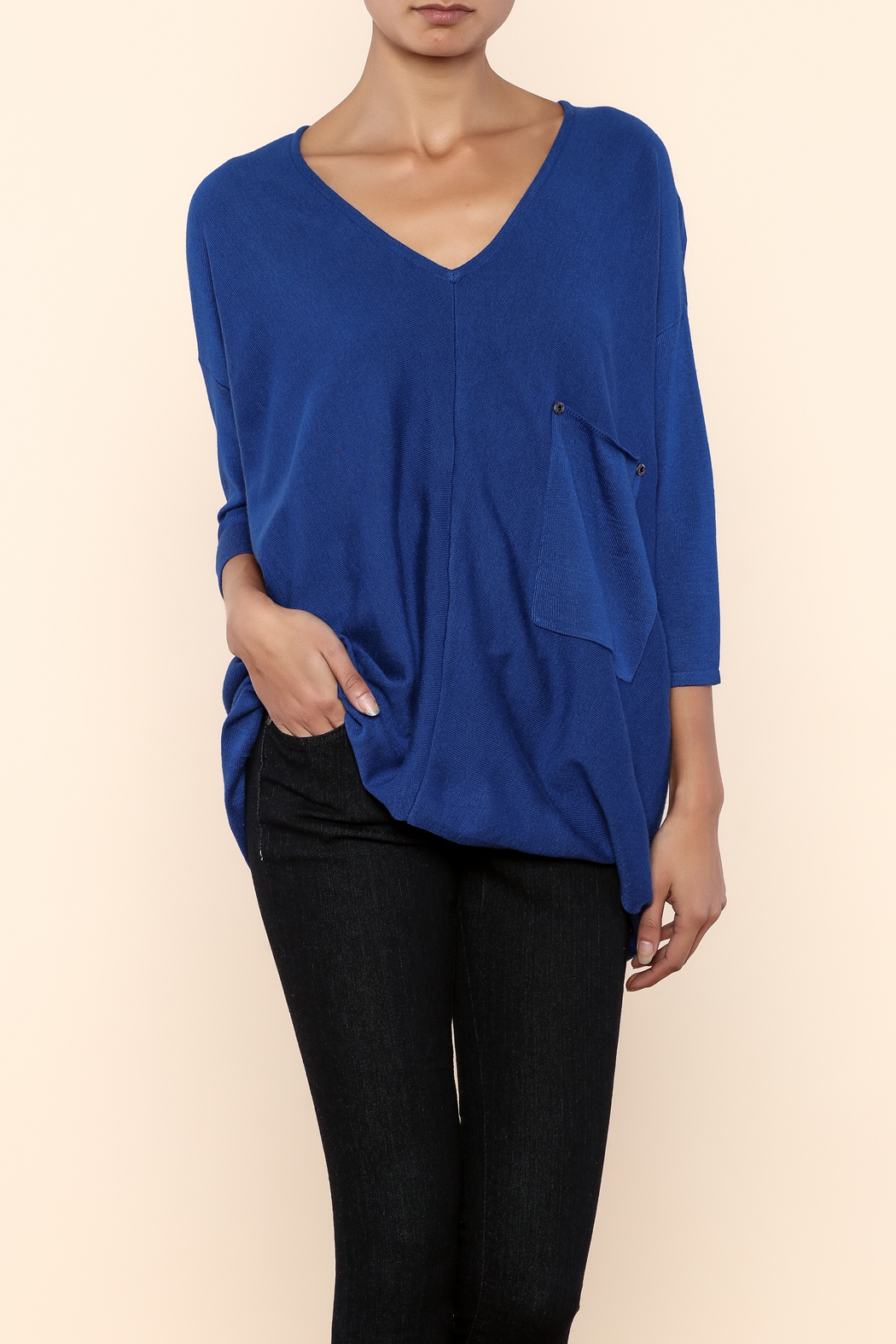 Kerisma Blue V-Neck Sweater - Main Image