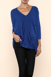 Kerisma Blue V-Neck Sweater - Front cropped