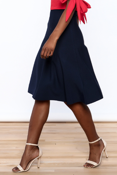 Kerisma Navy A-Line Skirt - Product List Image