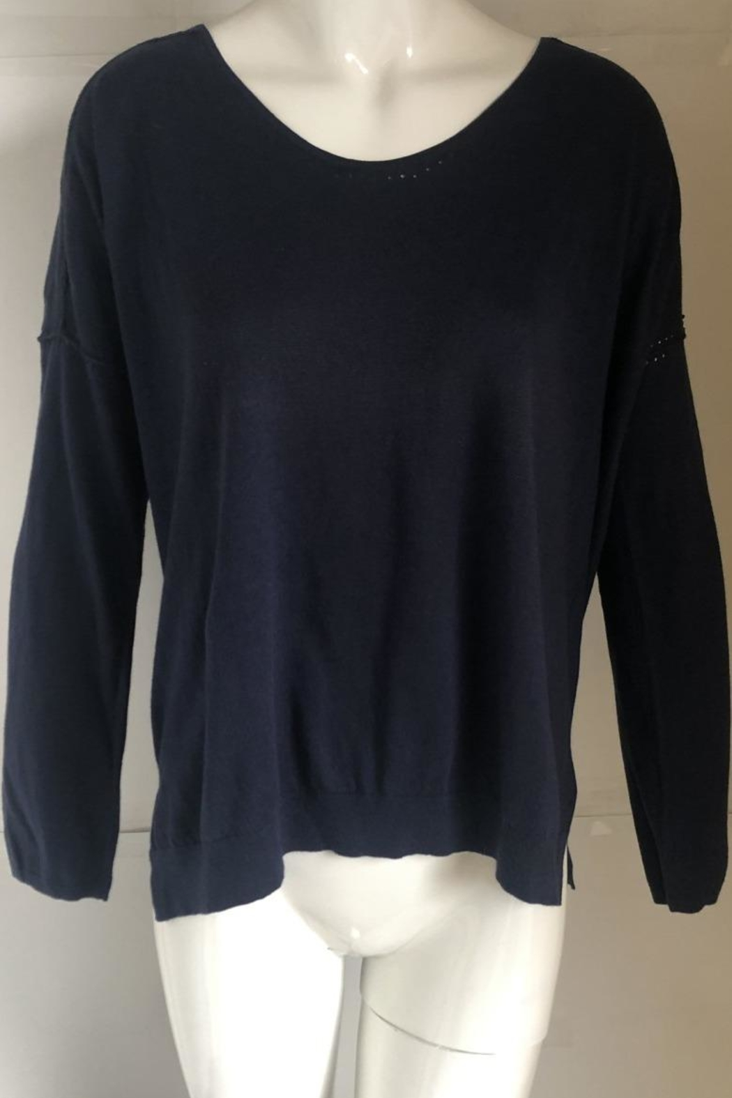 Kerisma Navy Scoop-Neck Sweater - Front Cropped Image