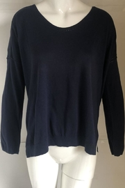 Kerisma Navy Scoop-Neck Sweater - Product Mini Image