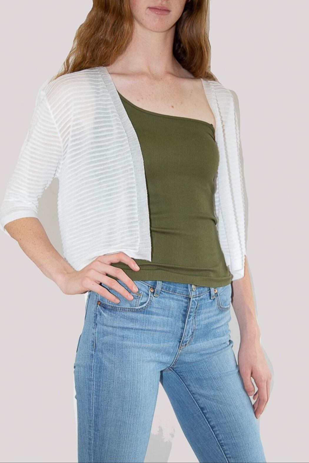 Kerisma Striped Textured Cardigan - Front Cropped Image