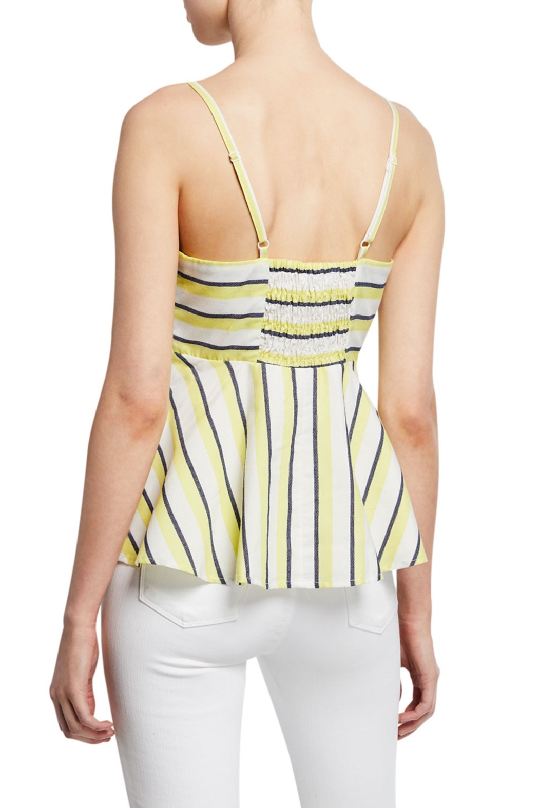 Cupcakes and Cashmere Kerria Stripe Peplum Top - Front Full Image