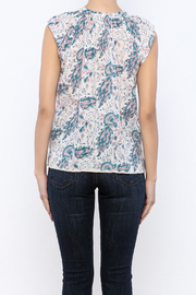 Kerry Cassill Short Sleeve Henley Top - Back cropped