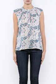 Kerry Cassill Short Sleeve Henley Top - Side cropped