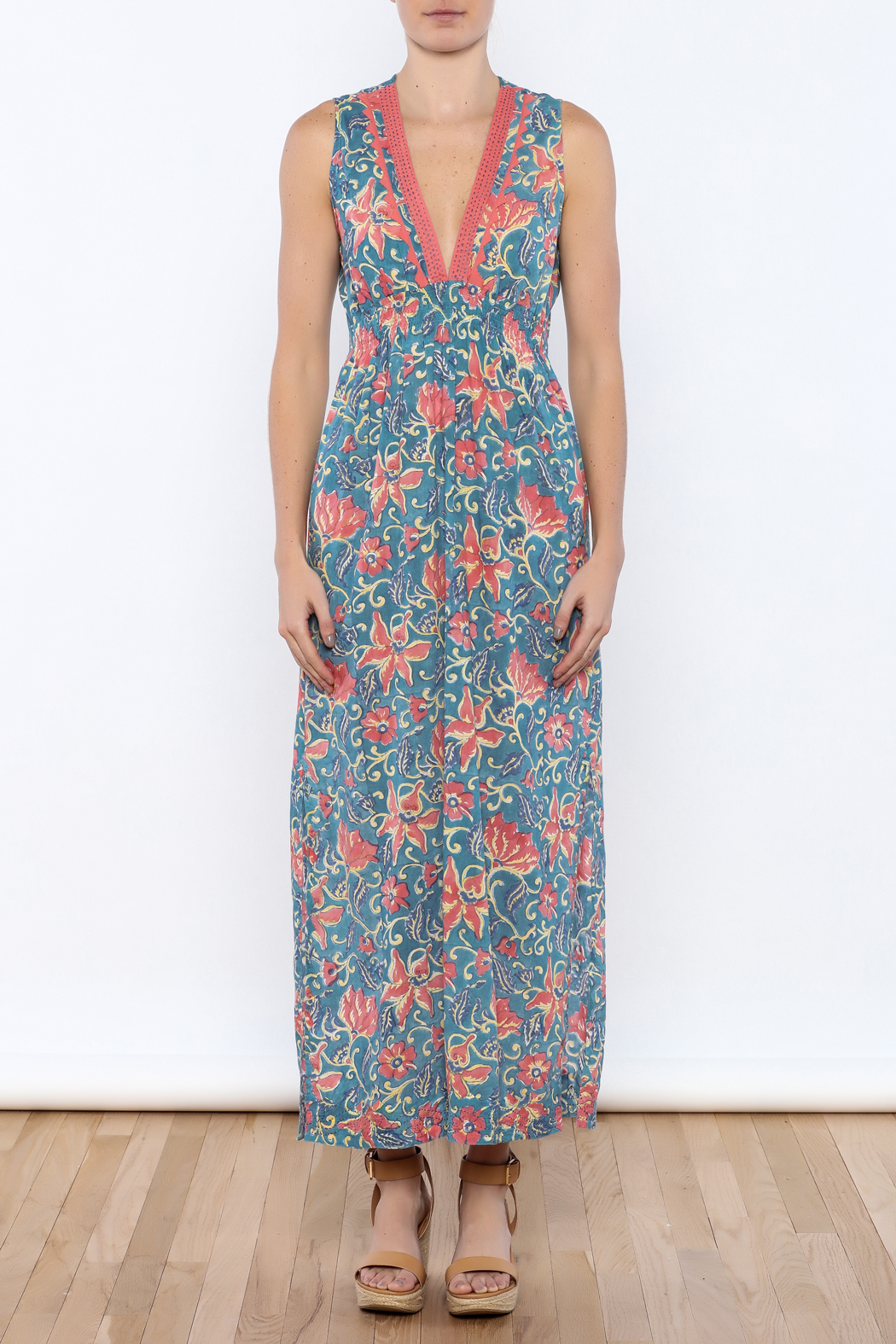 Kerry Cassill Sleeveless Maxi Dress - Front Cropped Image