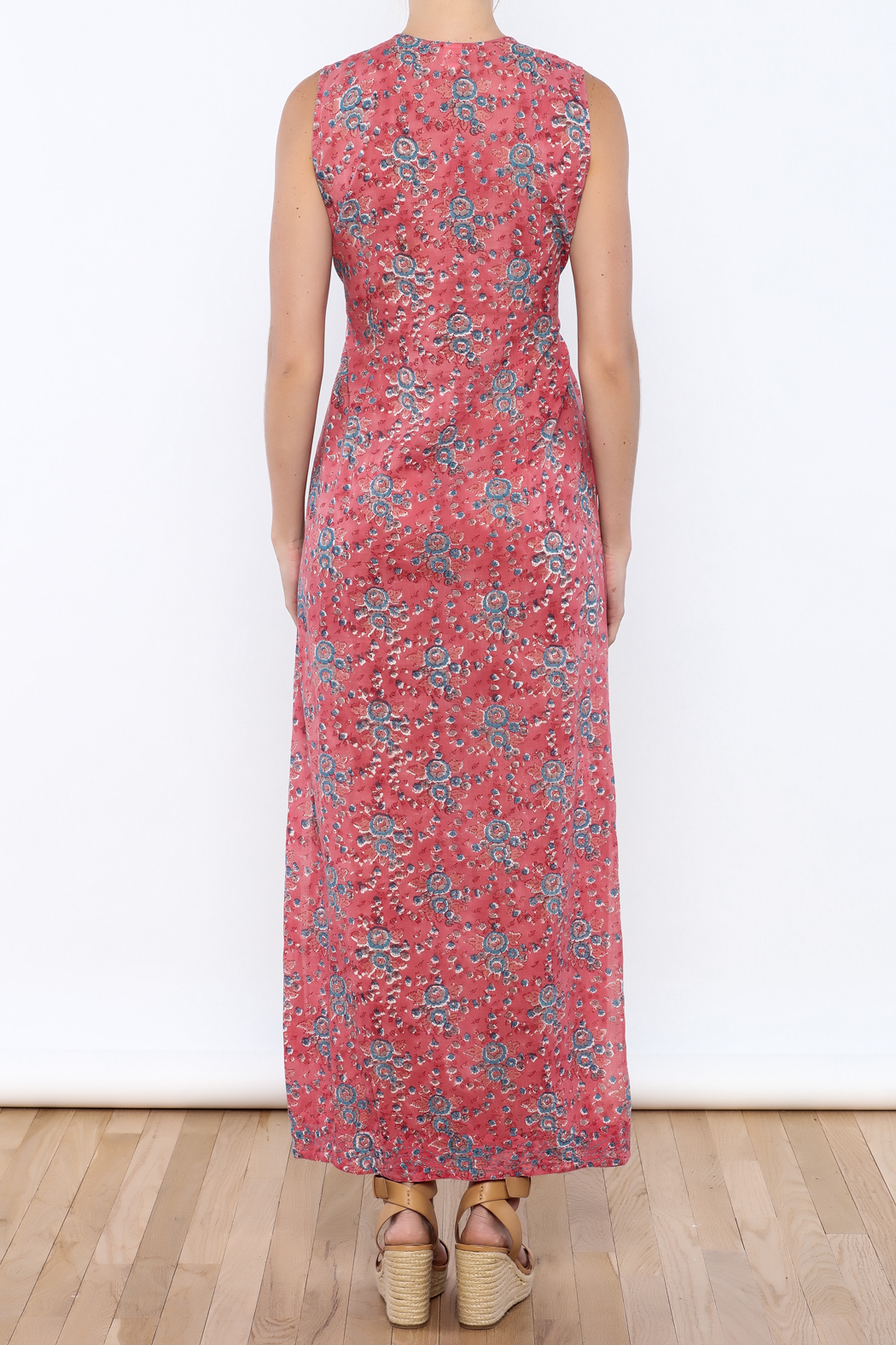 Kerry Cassill Sleeveless Maxi Dress - Back Cropped Image