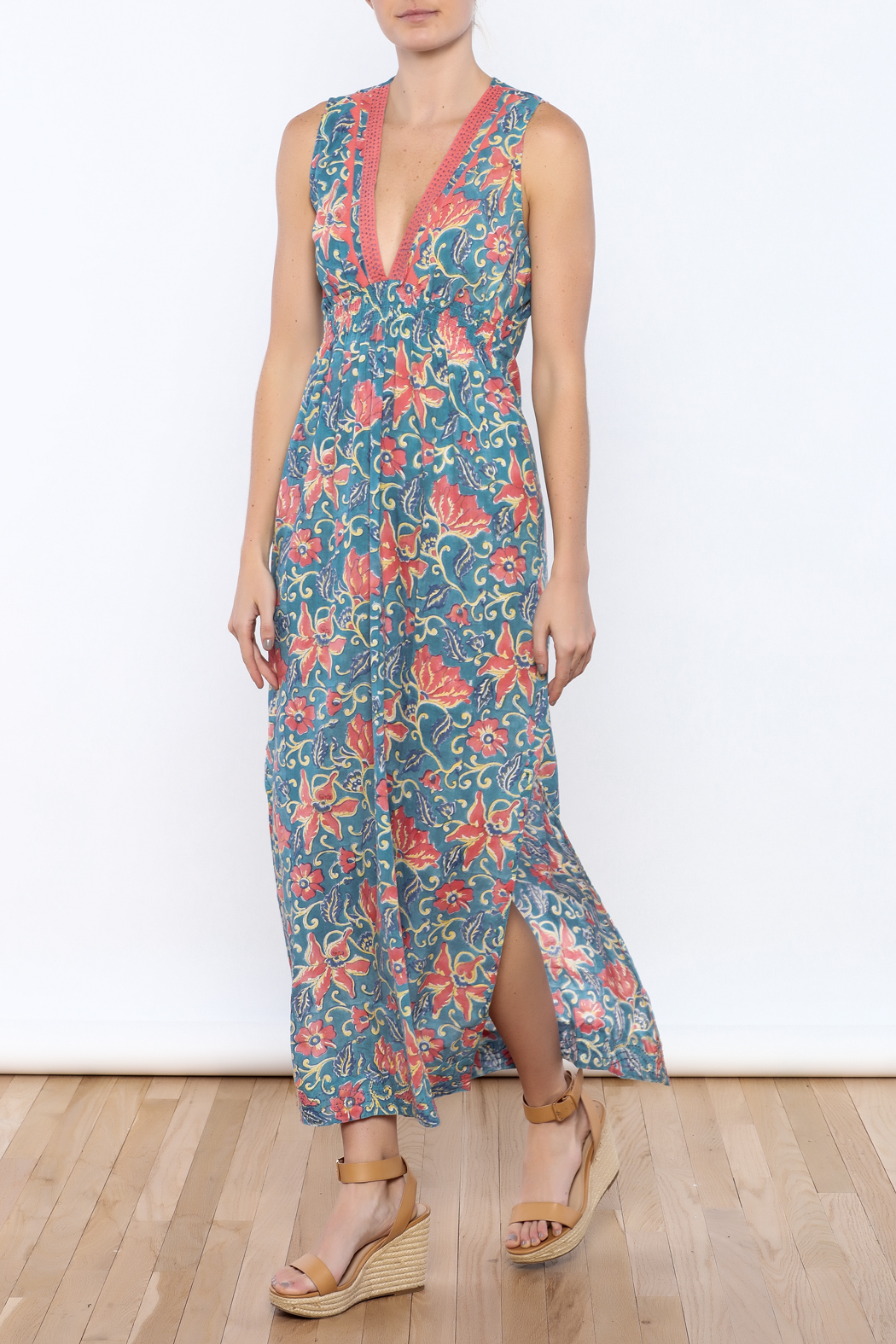 Kerry Cassill Sleeveless Maxi Dress - Front Full Image