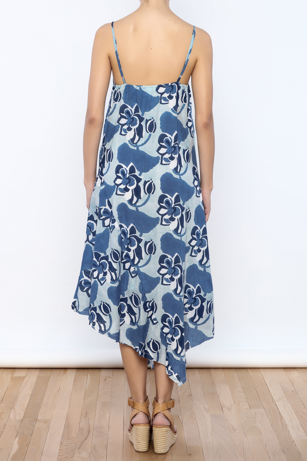 Kerry Cassill Spaghetti Strap Lined Dress - Back Cropped Image