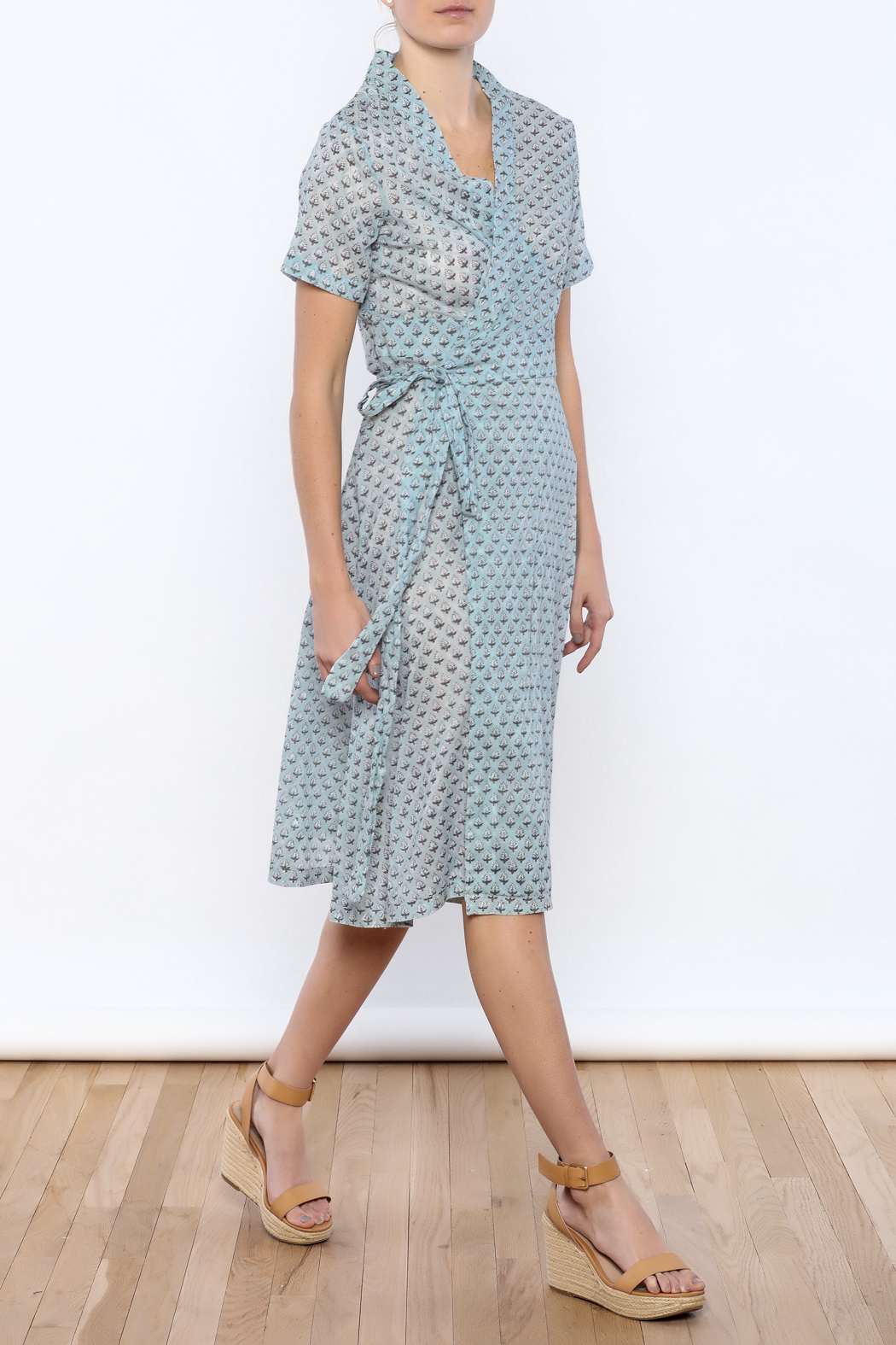 Kerry Cassill Wrap Dress - Front Full Image
