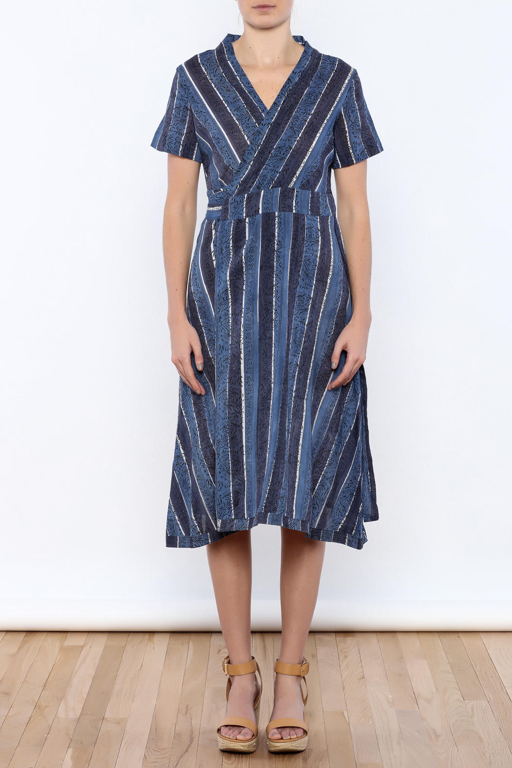 Kerry Cassill Wrap Dress - Front Cropped Image
