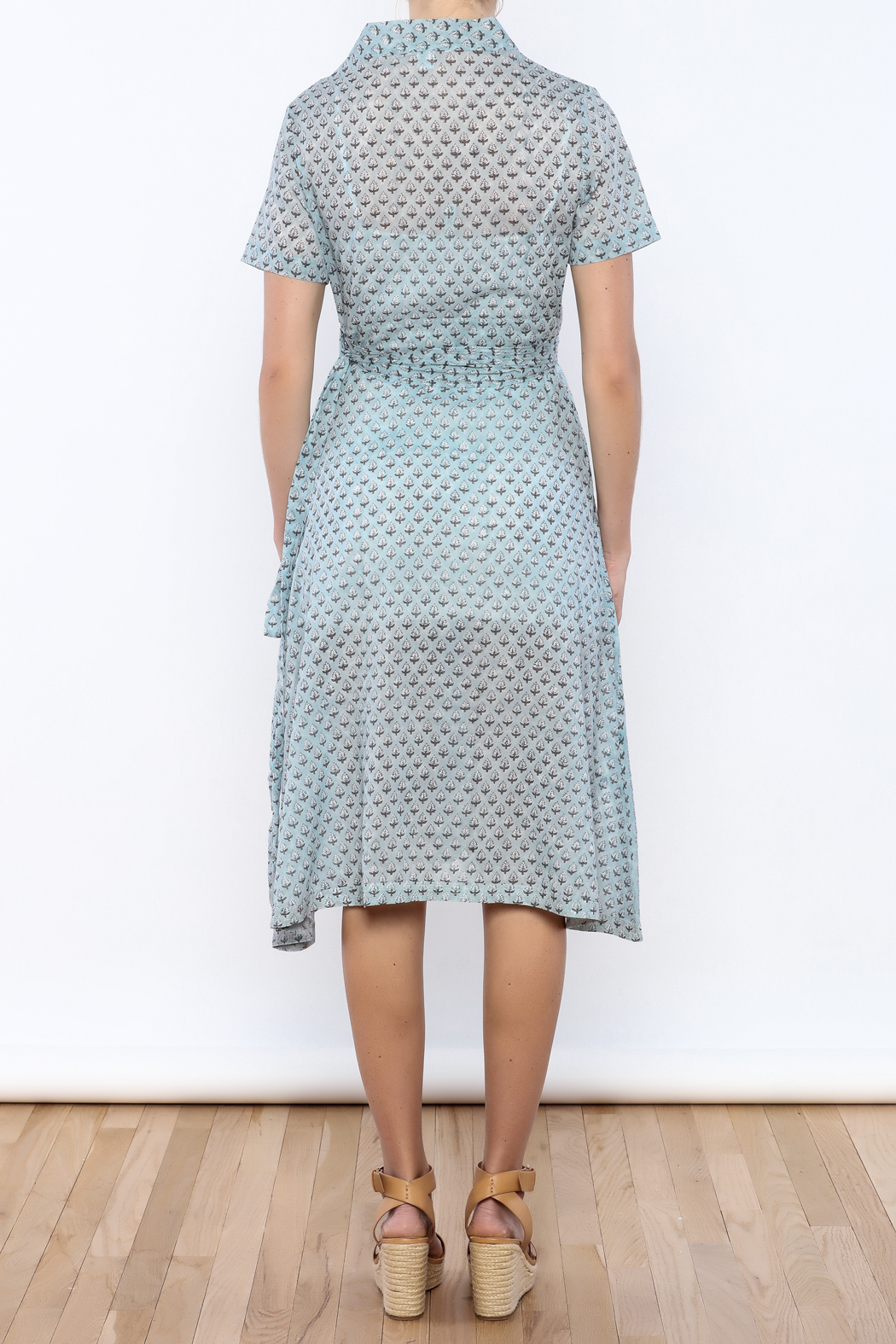 Kerry Cassill Wrap Dress - Back Cropped Image