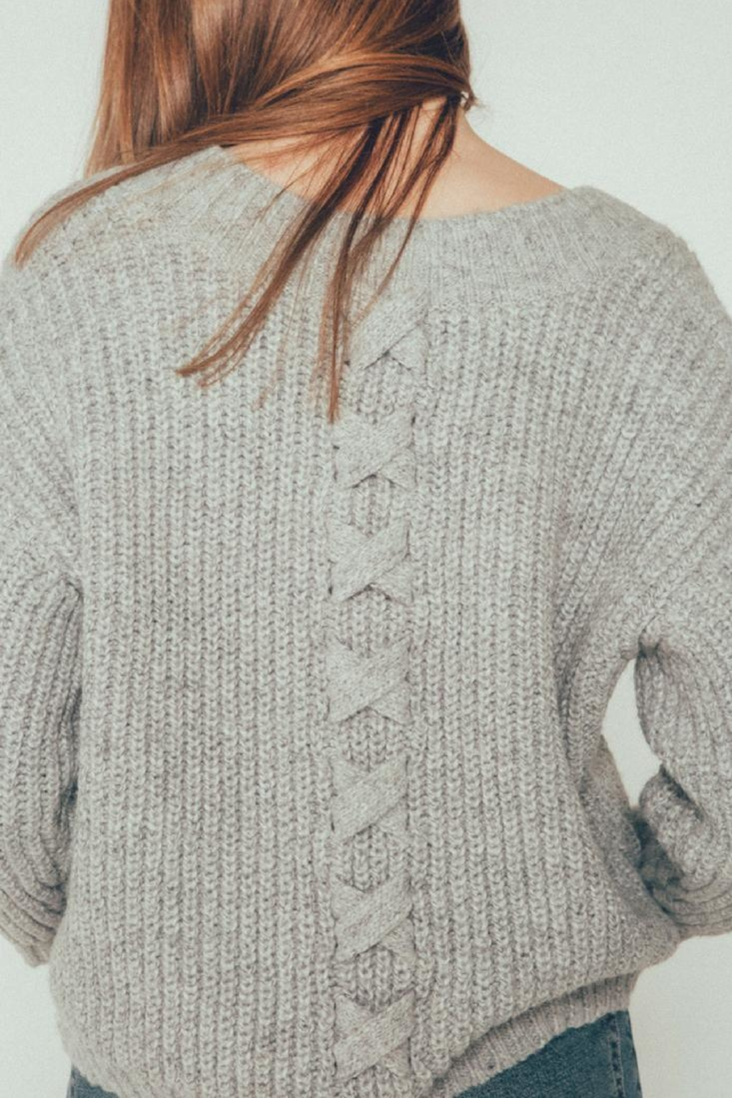 Kersh Lace Up Pullover - Front Cropped Image