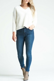 Kersh Lace Up Pullover - Front full body