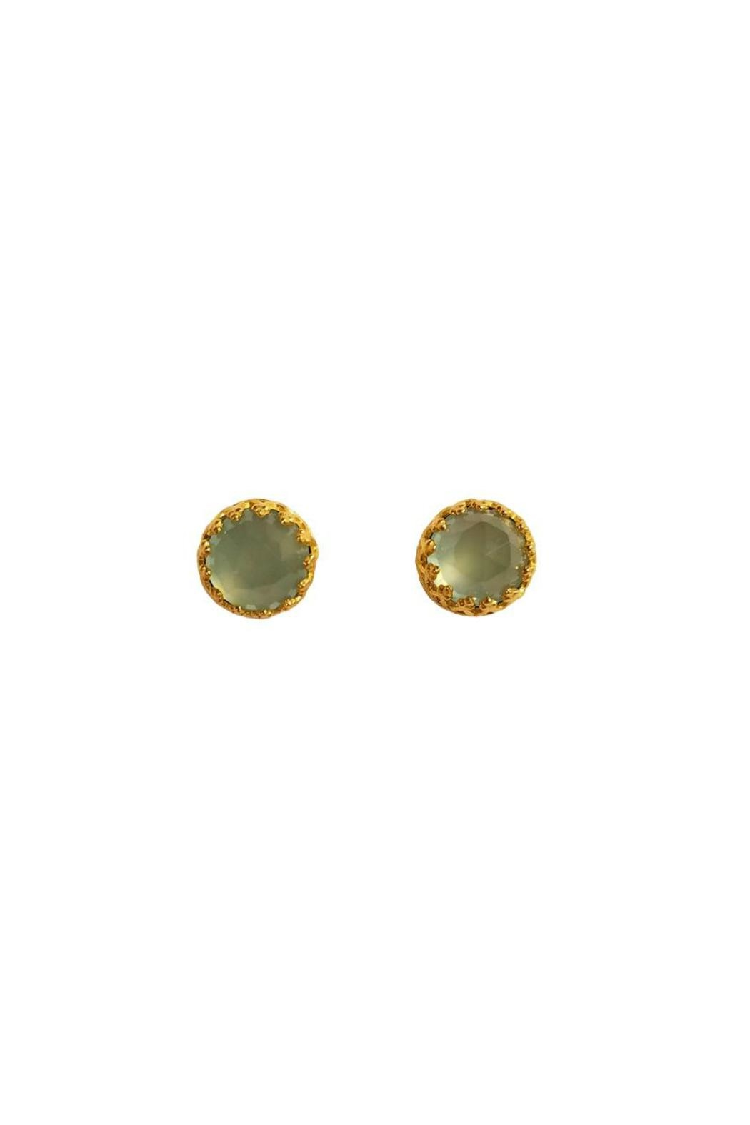 Kevia Chalcedony Crown Studs - Main Image