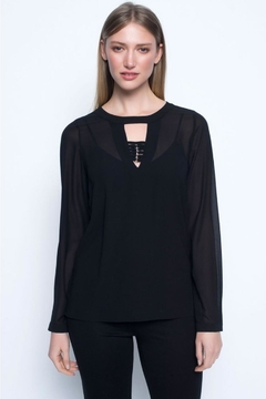 Picadilly Keyhole 2-Piece Blouse - Alternate List Image