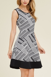 Riah Fashion Keyhole-Back Abstract Dress - Product Mini Image
