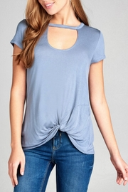 Active Basic Keyhole Basic Tee - Front cropped
