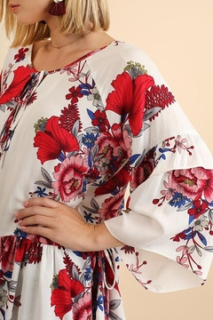 Shoptiques Product: Keyhole Floral-Rose Tunic
