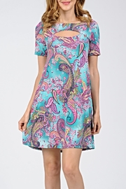 Now N Forever Keyhole Printed Tunic - Product Mini Image