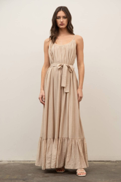 By the River Bella Khaki Maxi Dress - Product List Image