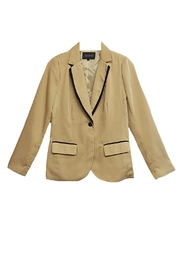 Blu Pepper Khaki Black-Trim Blazer - Product Mini Image