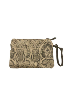 Chloe & Lex Khaki Bottom Floral Pouch - Alternate List Image