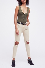Free People Khaki Busted Skinny - Product Mini Image
