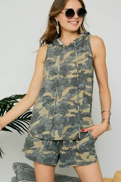 Adora Khaki Camoflage Short Set - Product List Image